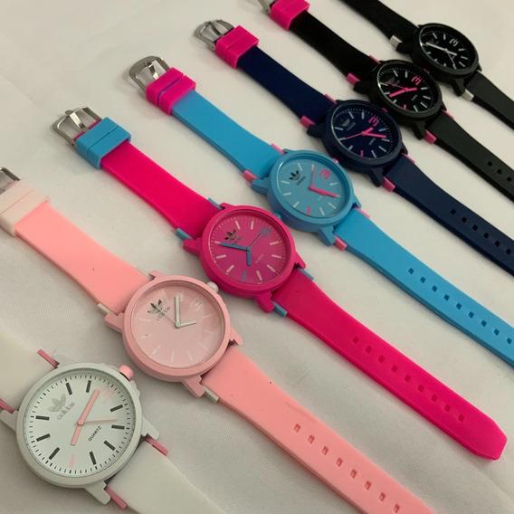 Relógio Feminino Masculino Unissex adidas Pulseira Silicone