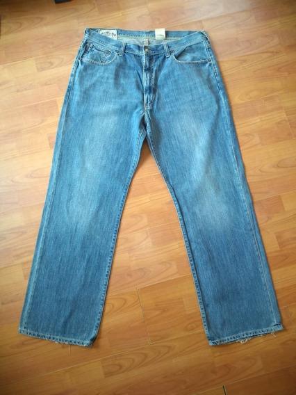 Jeans Caballero Abercrombie Talla 36-38. Largo 34