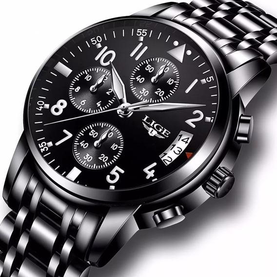 Relógio Masculino Lige Original Funcional Militar Promoçao