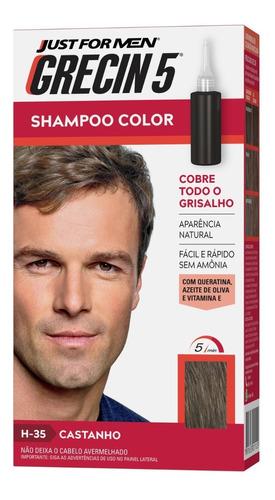 Grecin 5 Shampoo Tonalizante Castanho H-35 60ml