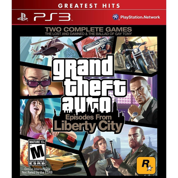 Jogo Ps3 Gta Episodes From Liberty City Novo Lacrado E Orig.