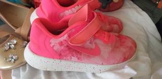 Tenis Nike Free Para Niña Rosa Neon
