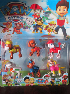 Set Play Paw Patrol X 6 Muñecos Ideal Tortas Y Después Jugar