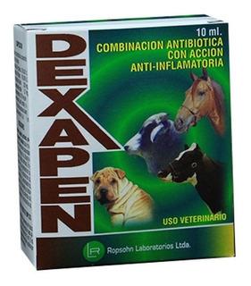 Dexapen 10ml (antibioticos, Caninos Y Ganaderia)