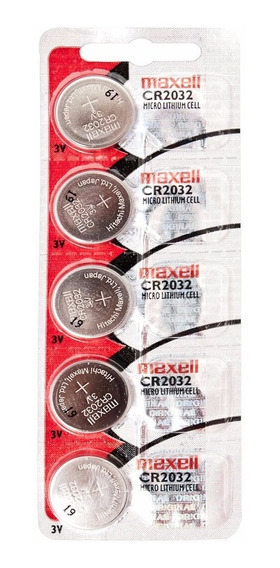 Bateria Maxell Lithium Cell Cr2032 3v Cartela C/5 Unid