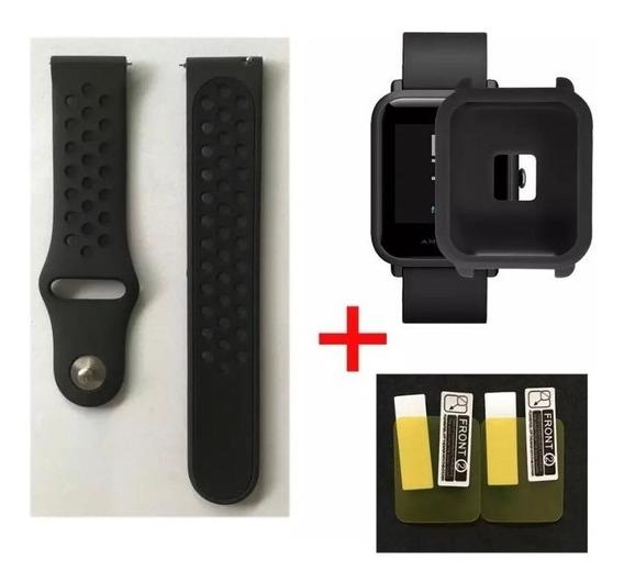 Pulseira Amazfit Bip Nike + Pelicula Protec + Case Silicone