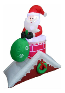 5foot Tall Lighted Navidad Hinchable De Papá Noel Sobre