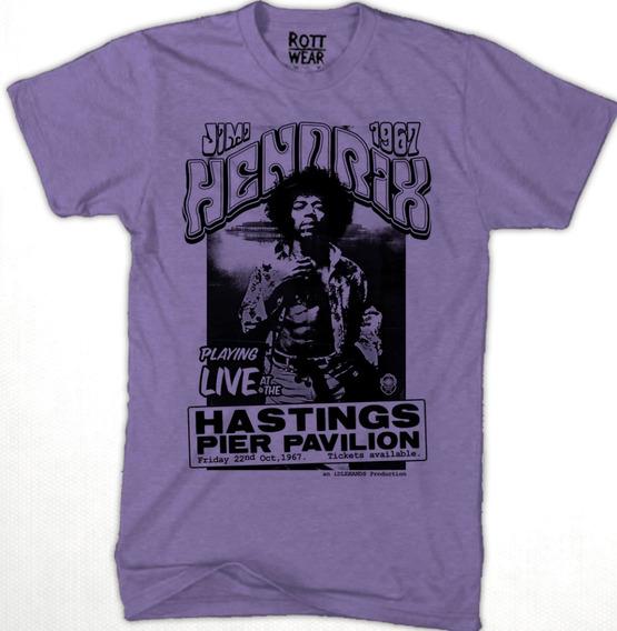 Jimi Hendrix 1967 Flyer M Playera Rott Wear