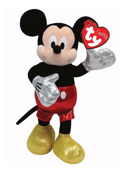 Kit Pelúcia Com 2 Mickey Mouse Ty Infantil 19cm Fofinhos