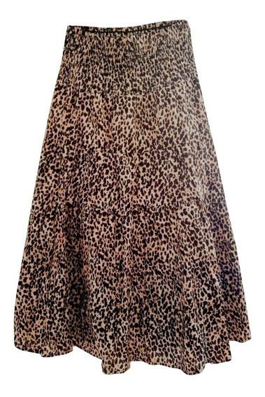 Falda Focus 2000 Mujer Talla S Estampado De Leopardo