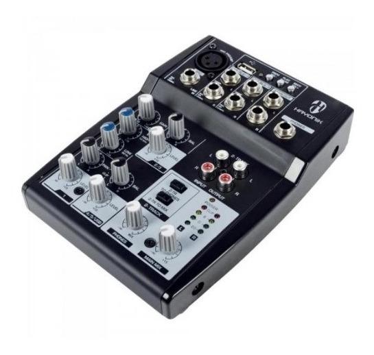Mesa De Som Hayonik Hmx-105 Mixer Usb 5 Canais Bivolt
