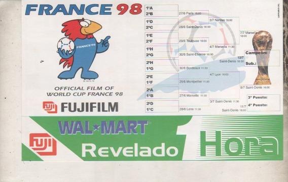 Fixture Mundial Francia 98 * Wal Mart , Fuji * Sin Uso