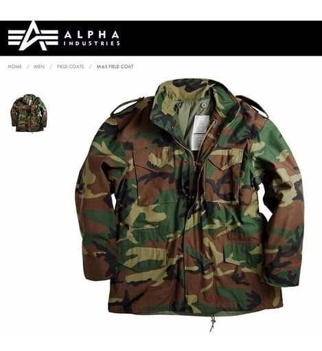 Campera Alpha Industries M65 Parka Militar Camuflada Selva