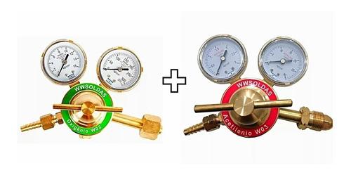 Kit Reguladores Cilindro De Acetileno E Oxigênio W W Soldas