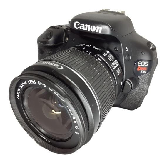 Camera Canon T3i Seminova Impecável + Lente 18-55 Mm