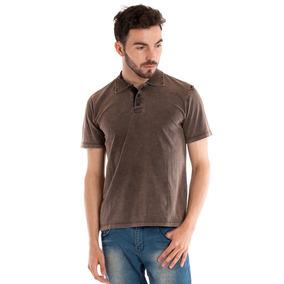 0a05624b56 Camisa Polo Marrom Lisa - Calçados
