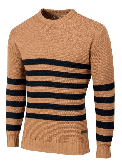 Sweater Cambridge, Rayado, Vintage, De Hombre, Valkymia