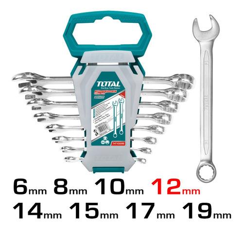 Juego De 8 Llaves Total - Milimetricas Combinadas/6-19mm