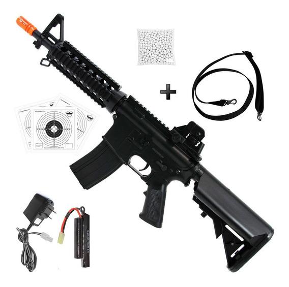 Rifle De Airsoft Aeg Cyma M4a1 Ris Gearbox Metal +acessórios