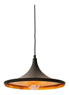 Lámparas Colgantes Chapa Moderna Beat Wide Tall Fat Negro Tom Dixon Deco Cocina Living