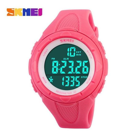 Mulheres Relógio Skmei 3d Pedômetro Led Relógio Digital M