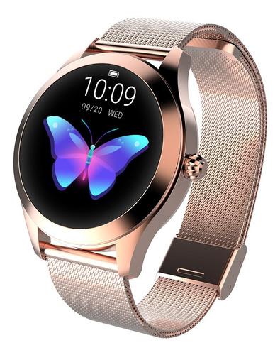 Imagen 1 de 10 de Kingwear Kw10 Reloj Inteligente Deportivo Ip68 Para Mujer