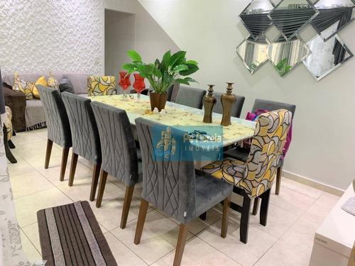 Casa Com 3 Dormitórios À Venda Por R$ 450.000,00 - Tude Bastos (sítio Do Campo) - Praia Grande/sp - Ca0061