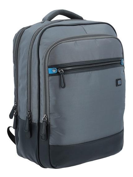 Mochila Portalaptop Blu Bag Gris Mod. Bs17006-2