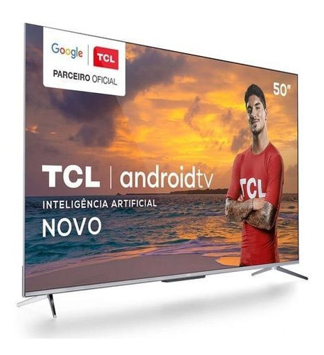 Smart Tv Tcl Led 4k 50  Android Tv Google Assistant - 50p715