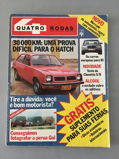 Revista Quatro Rodas - Dezembro 1980 - Nº 245 Perua Gol