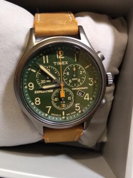 Reloj Timex Expedition Con Cronometro Nuevo Caratula Verde