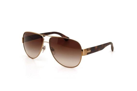 Óculos De Sol Unissex Vogue Metal Proteção Uv Dourado