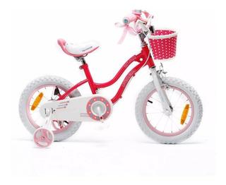 Bicicleta Royal Baby Star Girl Rod 14 De Niña