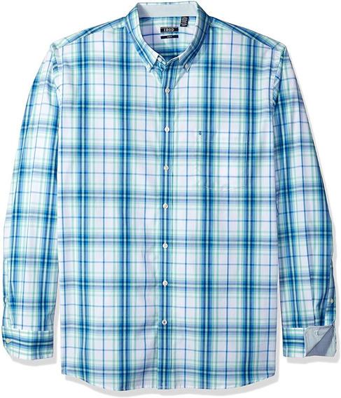 Camisa Izod Premium Slim Fit 5xlt Stretch Algodon 5xl