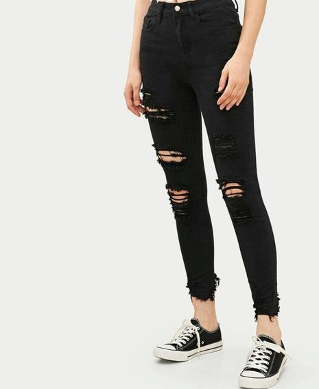 Pantalones Negros Rasgados Mujer Mercadolibre Com Mx