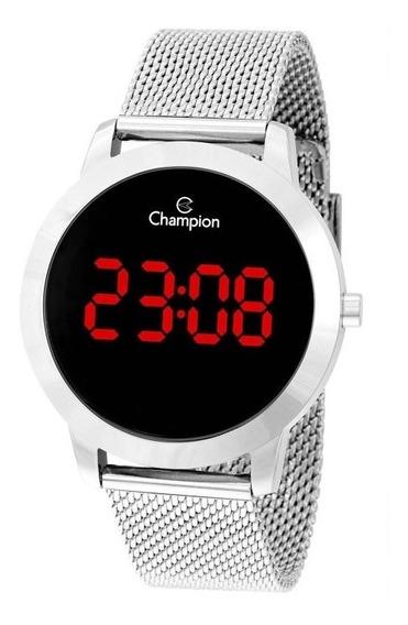 Relógio Digital Feminino Champion Prata Ch40106t