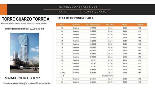 Imagen 1 de 2 de Torre Cuarzo - Paseo De La Reforma 1772m2 , $550
