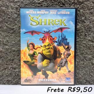 Shrek 1 Dvd Original Filme Animação Dreamworks - Novíssimo