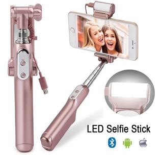 Pau De Selfie Branco+espelho+led Extensão Até 86cm Pgto 12x