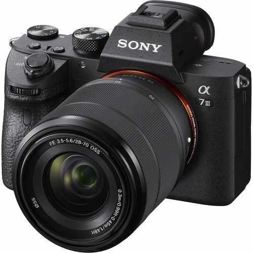Câmera Sony A7 Iii Com Lente Fe 28-70mm - Nova