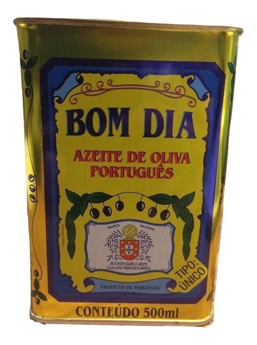 Imagem 1 de 3 de Azeite De Oliva Português Bom Dia Lata - 500ml