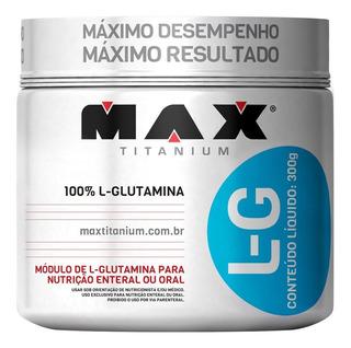 Kit 3 L Glutamina LG - 300g - Max Titanium - Pura - Ajinomot