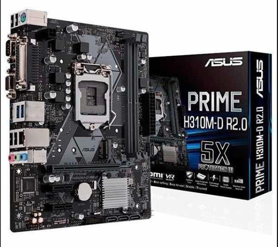 Placa Mãe Gamer Asus H310m-d R2.0 Mais Barata Do Ml