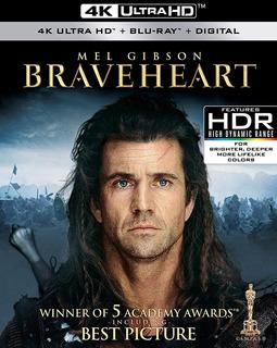 Braveheart 4k Ultra Hd + Blu-ray Nuevo Original Importado