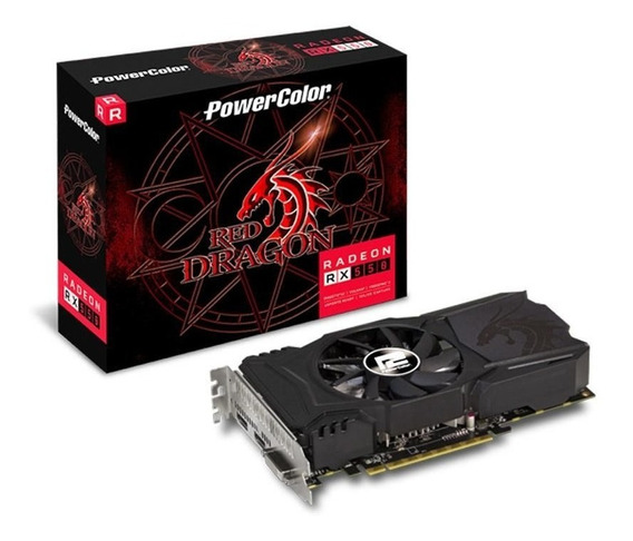 Placa De Vídeo Radeon Rx 550 Red Dragon 4gb Gddr5 Powercolor