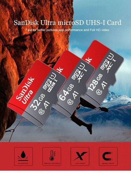 Cartao De Memória Microsd 64gb Sandisk Camera Digital 100mbs