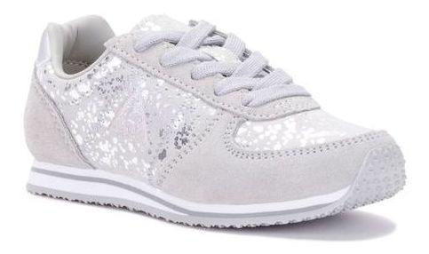 Zapatillas Niñas Le Coq Sportif Bolivar Glam Silver-grey