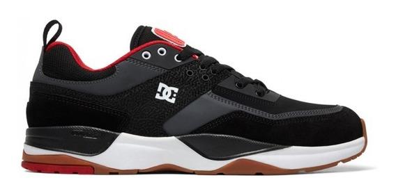 Zapatilla Dc E. Tribeka Negro Con Rojo