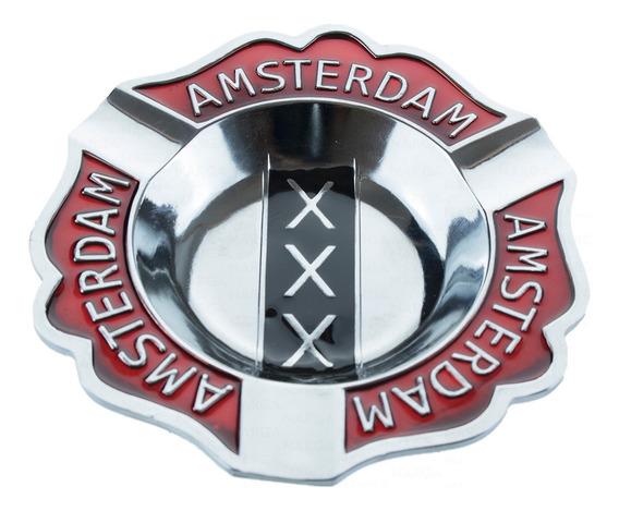 Cinzeiro Charuto Amsterdam Metal Ferro - Barato