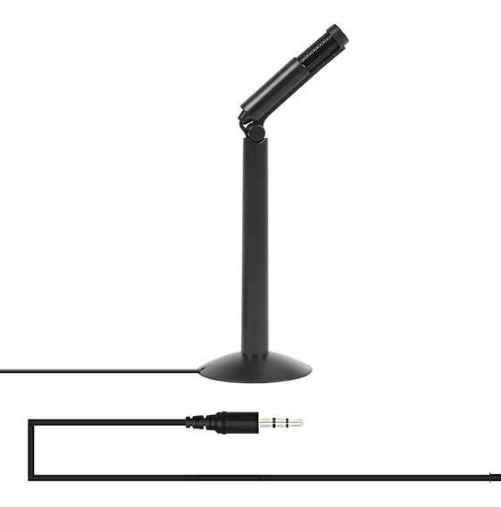 Microfone De Gravação Estéreo Yanmai 120 Graus 3,5 Mm
